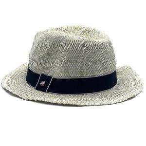 Ben Sherman White Panama Summer Woven Paper Hat